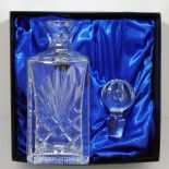 Crystal Whisky Decanter in personalised Gift Box, ref CDGB